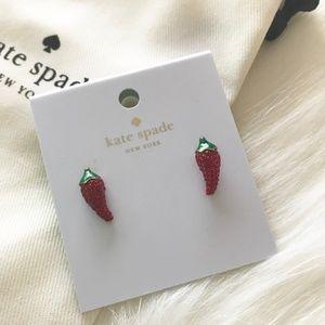 RETIRED Kate Spade Chili Pepper Earrings